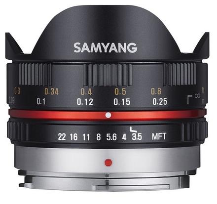 Samyang 7,5mm f/3,5 pro micro 4/3 černý