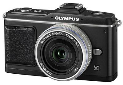 Olympus E-P2 černý Pancake Kit + hledáček VF-2
