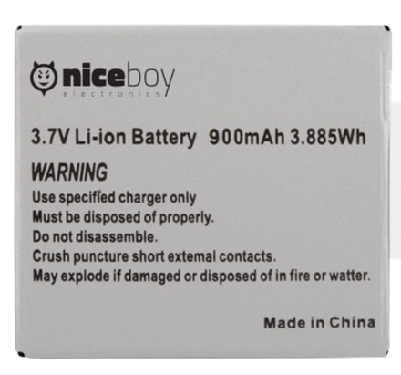 NICEBOY baterie pro VEGA a VEGA+ 900mAh