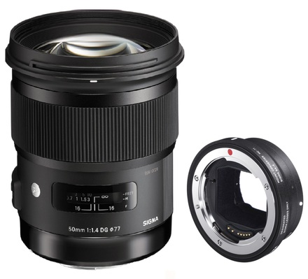 Sigma 50mm f/1,4 DG HSM Art pro Canon + Mount konvertor pro Sony E
