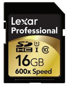 Lexar SDHC 16GB 600x, class 10, UHS-I
