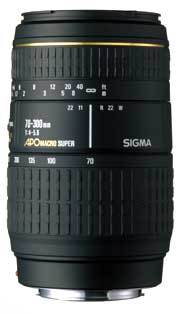 Sigma 70-300 /4,0-5,6 MACRO SUPER II