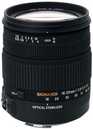 Sigma 18-125mm f/3,8-5,6 DC HSM pro Sony