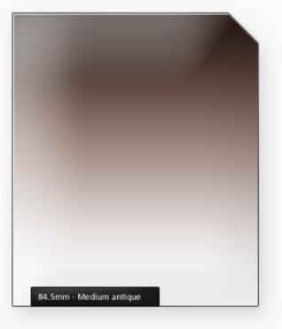 84.5mm Classic 100mm filtr střední antik