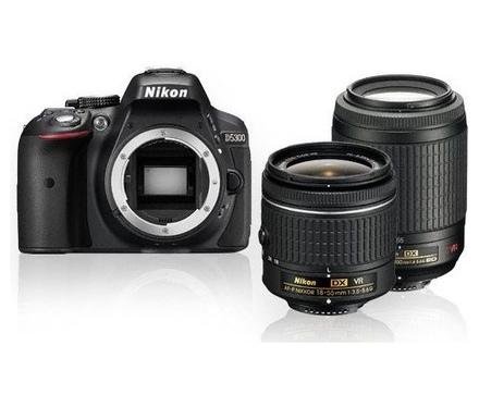 Nikon D5300 + 18-55 mm AF-P VR + 55-200 mm VR II černý