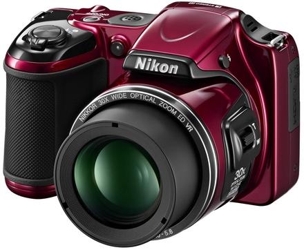 Nikon CoolPix L820 červený + 8GB karta + brašna DFV42!
