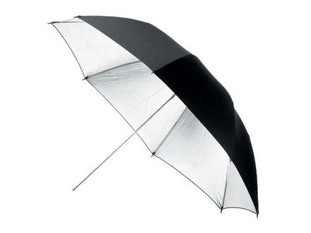 Terronic deštník BS-110cm černý - stříbrný