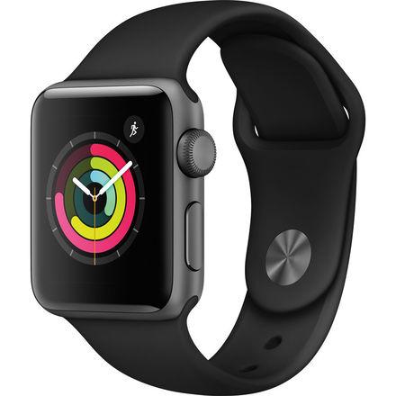 Apple Watch Series 3 GPS 42mm vesmírně šedý hliník s černým sportovním řemínkem