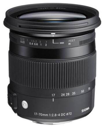 Sigma 17-70mm f/2,8-4,0 DC Macro OS HSM Contemporary pro Nikon
