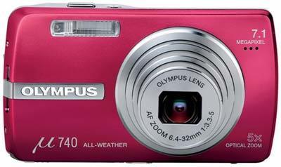 Olympus Mju 740 červený