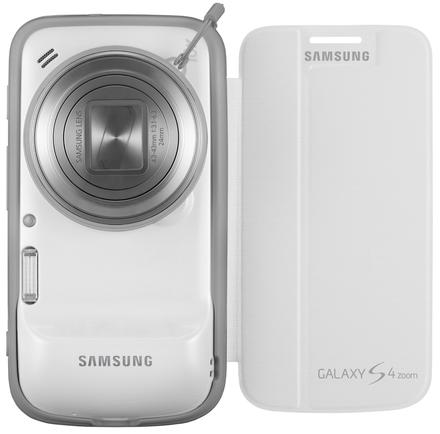 Samsung flipový kryt pro Galaxy S4 Zoom bílý
