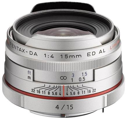 Pentax HD DA 15mm f/4,0 ED AL Limited stříbrný