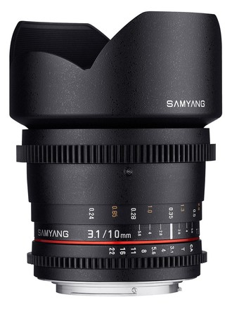 Samyang CINE 10mm T/3,1 VDSLR ED AS NCS CS II pro Fuji X