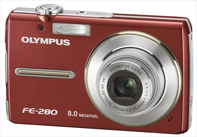 Olympus FE-280 červený