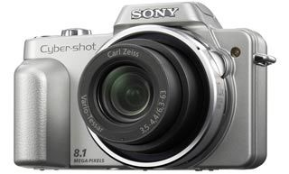 Sony DSC-H3 stříbrný + MS 2GB DUO + pouzdro!