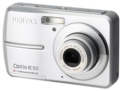 Pentax Optio E50 stříbrný
