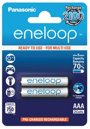 Panasonic Eneloop AAA baterie 750 mAh 2 ks