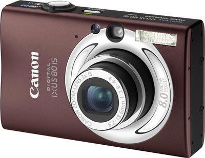 Canon IXUS 80 IS tmavě hnědý