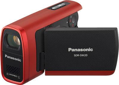 Panasonic SDR-SW20 červený + 4GB SD karta!