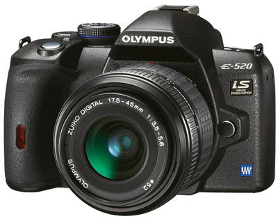 Olympus E-520 Double Zoom Kit + blesk FL-36R