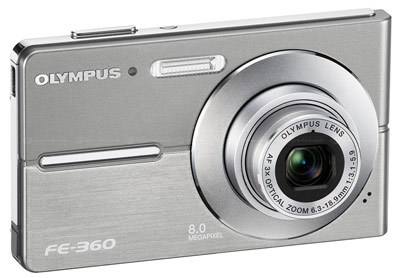 Olympus FE-360 stříbrný