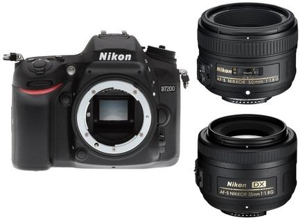 Nikon D7200 + 35 mm + 50 mm Set pro Portrét/Reportáž
