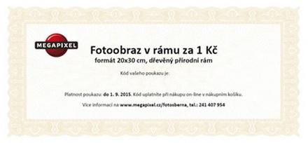 Slevový poukaz na Fotoobraz v rámu 20x30cm - dřevěný přírodní rám za 1 Kč Vánoce