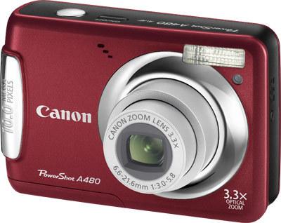 Canon PowerShot A480 červený