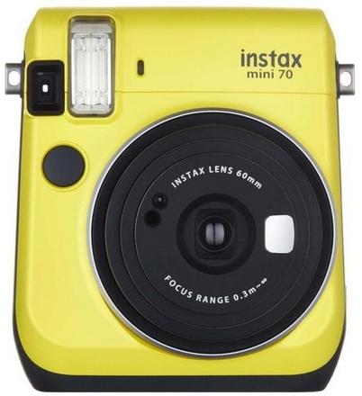 Fujifilm Instax Mini 70 instant camera žlutý + album + film na 10x foto!