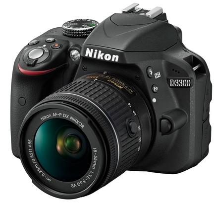 Nikon D3300 + 18-55 mm AF-P VR + 16GB karta + originální brašna + filtr UV 55mm + poutko na ruku!