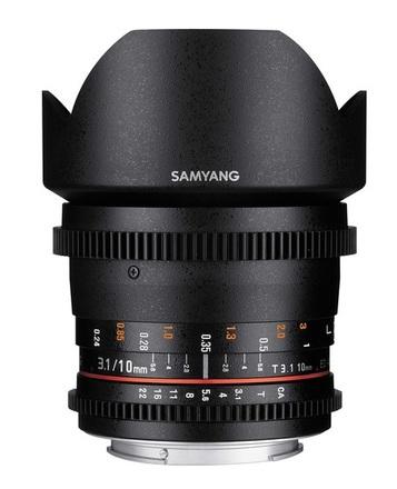 Samyang CINE 10mm T/3,1 VDSLR ED AS NCS CS pro Canon