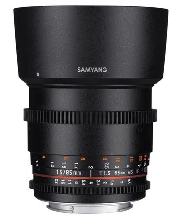 Samyang CINE 85mm T/1,5 VDSLR II pro Nikon