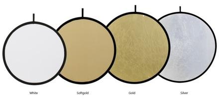 Fomei odrazná deska EXL bílá/světle zlatá 100cm