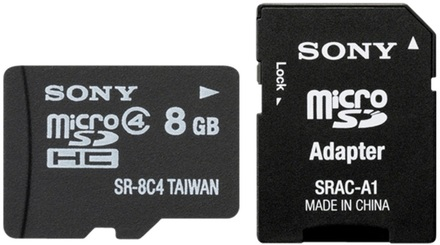 Sony Micro SDHC 8GB Class 4 + Adaptér