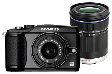 Olympus E-PL2 černý + 14-42 mm II + 40-150 mm