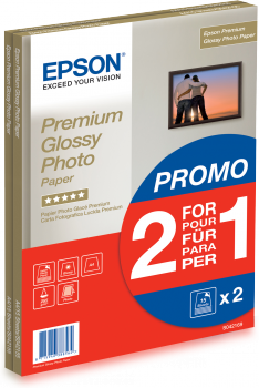 Epson Premium Glossy Photo Paper A4, 2x15 listů