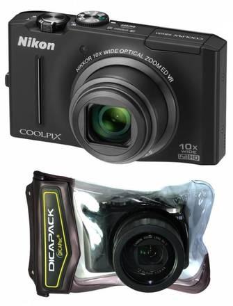 Nikon CoolPix S8100 černý + podvodní pouzdro WP-570!