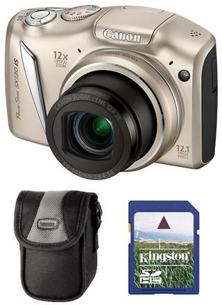 Canon PowerShot SX130 IS stříbrný + 4GB karta + pouzdro 50L zdarma!