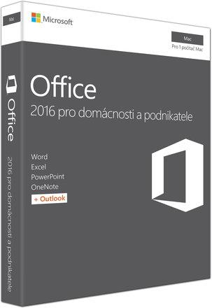 Microsoft Office Mac 2016 pro domácnosti a podnikatele CZ