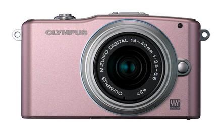 Olympus E-PM1 + 12-50 mm růžový
