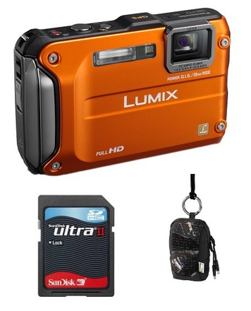 Panasonic Lumix DMC-FT3 oranžový + 8GB Ultra karta + pouzdro Aha 70J!