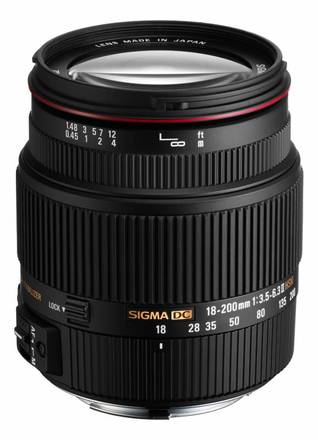 Sigma 18-200mm f/3,5-6,3 II DC OS HSM pro Canon
