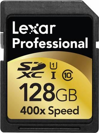 Lexar SDXC 128GB 400x, class 10, UHS-I
