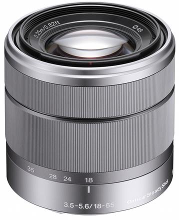 Sony 18-55mm f/3,5-5,6 SEL stříbrný