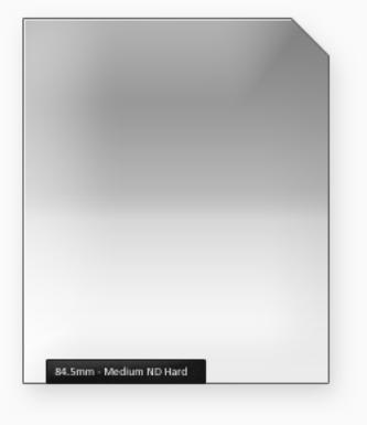 84.5mm Classic 100mm ND filtr střední s ostrým přechodem