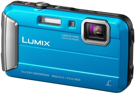 Panasonic Lumix DMC-FT25 modrý + 8GB karta + neoprenové pouzdro + mini stativ + poutko!
