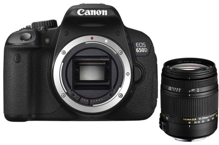 Canon EOS 600D + Sigma 18-250 mm DC OS HSM
