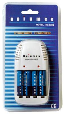 Opiumex nabíječka MX-8202 + 4x AA 2200 mAh