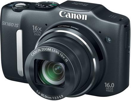 Canon PowerShot SX160 IS černý + 4GB karta + pouzdro Dashpoint 20 + čistící utěrka!