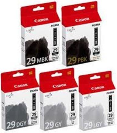 Canon cartridge PGI-29 MBK/PBK/DGY/GY/LGY Multipack